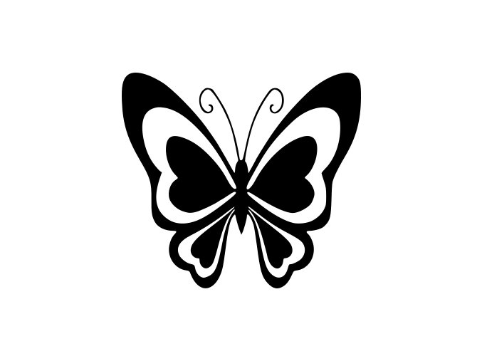 Samolepka - Motýl
