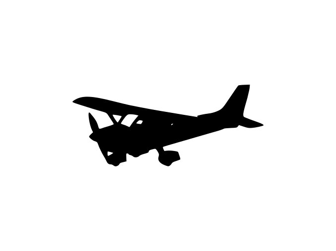 Samolepka - Vyhlídkové letadlo
