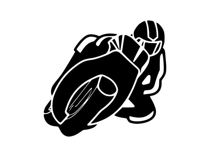Samolepka na auto - Jízda na motorce