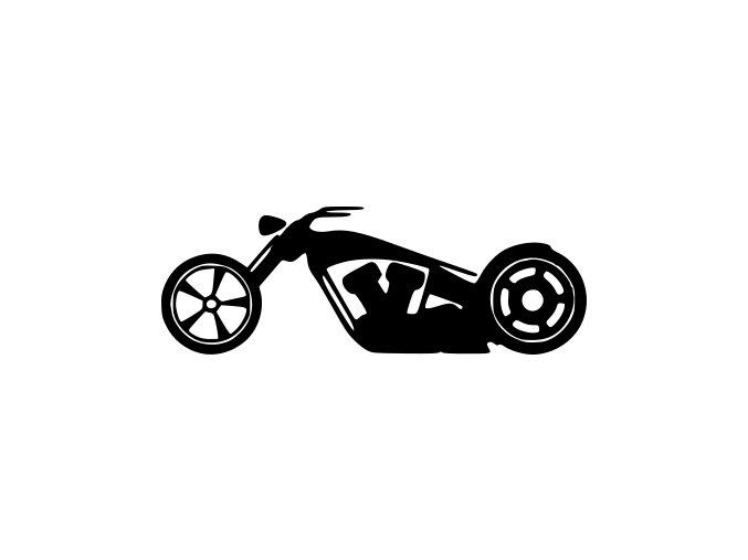 Samolepka na auto - Vytuněný chopper