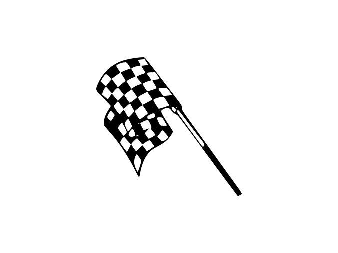 Samolepka na auto - Cílový praporek