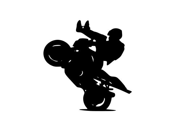 Samolepka na auto - Motiv na motorce