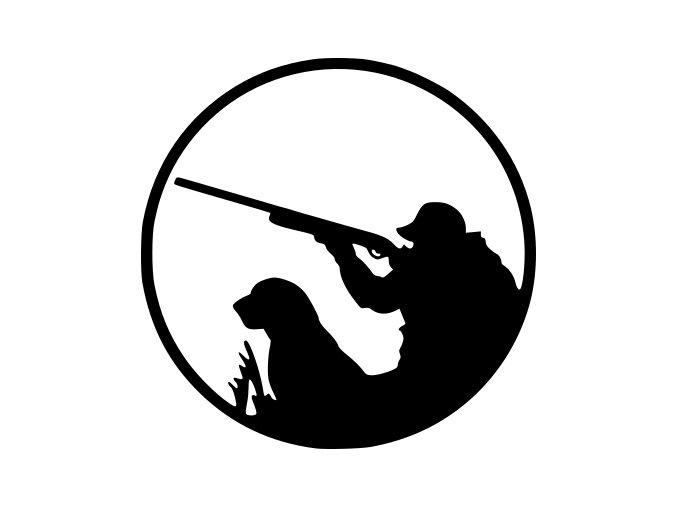 Samolepka na auto - Myslivec na lovu