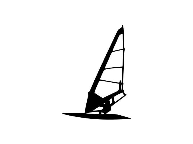 Samolepka na auto - Windsurfing