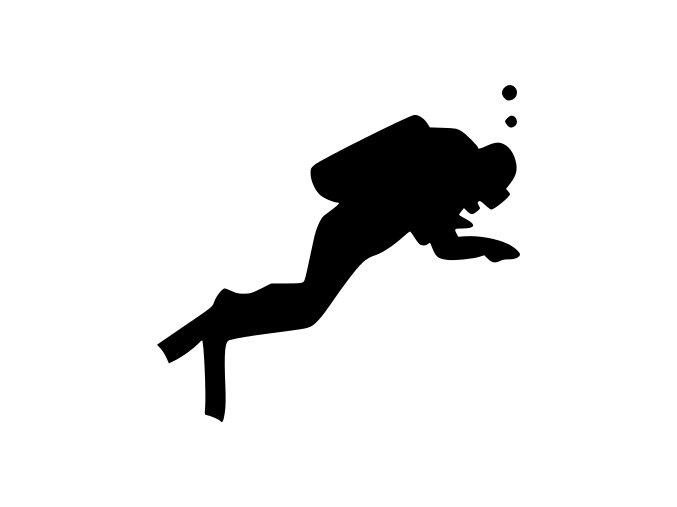 Samolepka na auto - Potápění