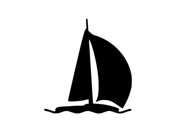 Samolepka na auto - Plachetnice na moři