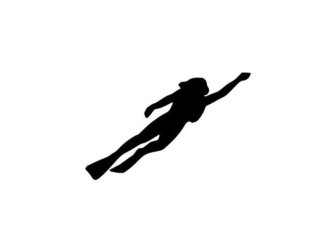 Samolepka na auto - Potápěči