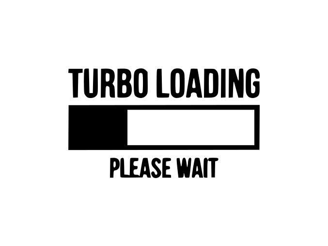 Samolepka na auto - Turbo loading