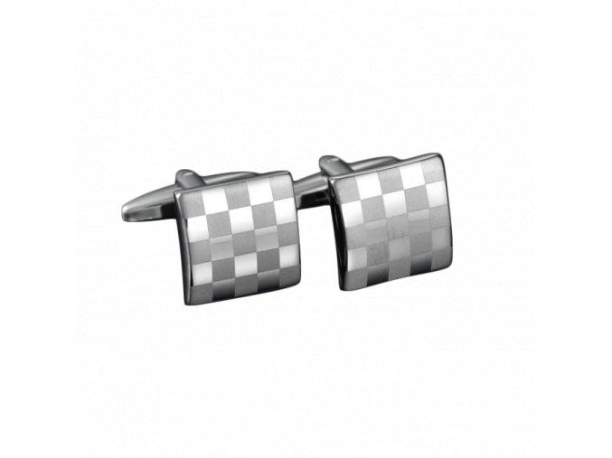Manžetové knoflíčky šachvnicový vzor