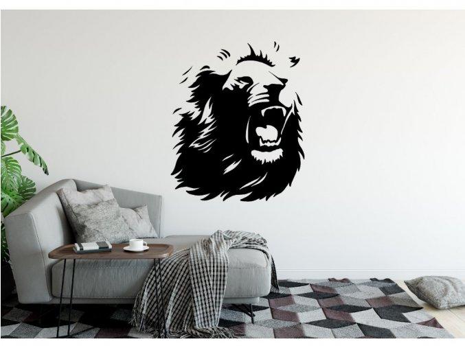 Samolepka na zeď řvoucí Lev