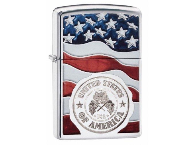 Zapalovač Zippo America Stamp on Flag