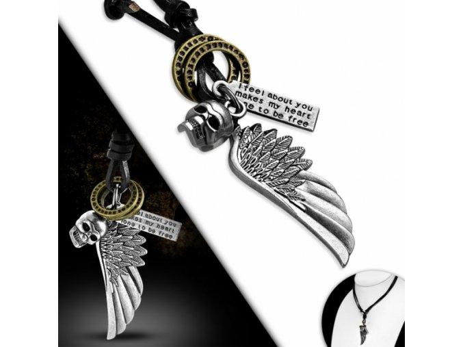 """<img src=""""www.gravon.cz/nahrdelnik.jpg"""" alt=""""Pánský Kožený náhrdelník Lebka a Křídlo"""">"""