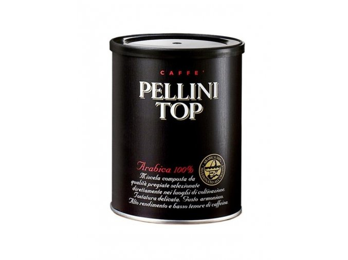 Pellini TOP 100% Arabica - v plechové dóze mletá káva 250 g