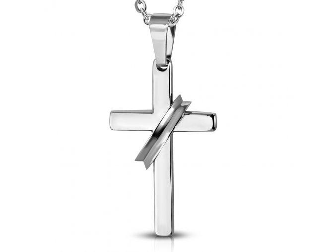Přívěsek Kříž s kruhem chirurgická ocel