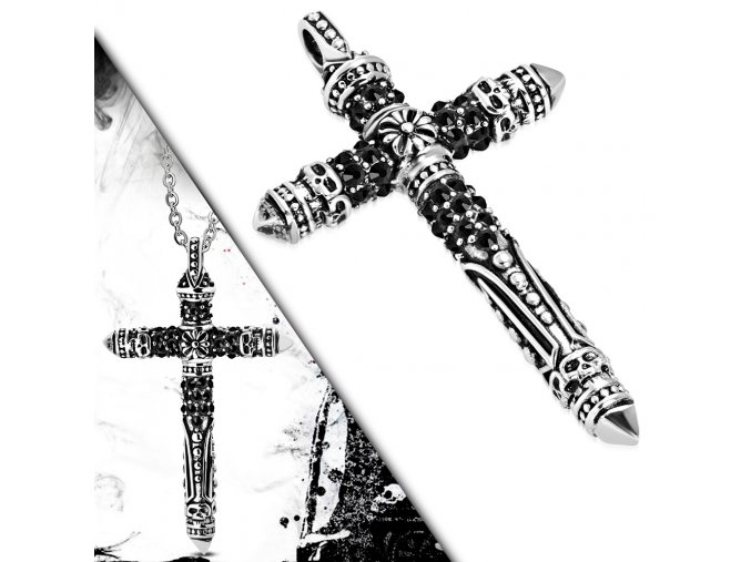 Přívěsek kříž Fleur De Lis chirurgická ocel PCS564