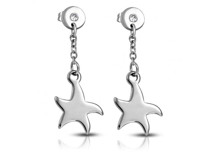 Náušnice hvězdičky na puzetkách chirurgická ocel