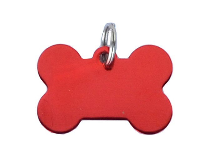 psi známka kost červená