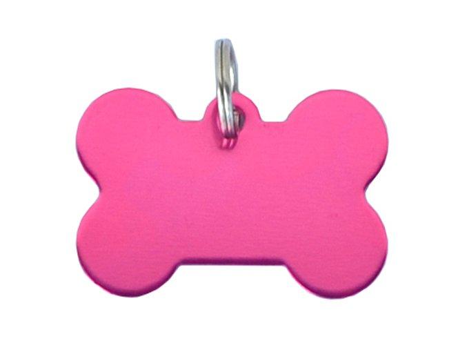 Známka pro psa rúžová kost s rytím