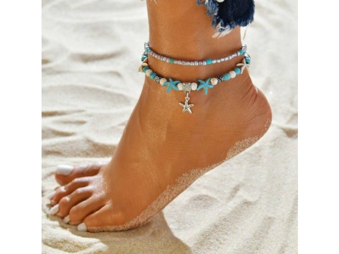 Řetízek na nohu mořská hvězdice