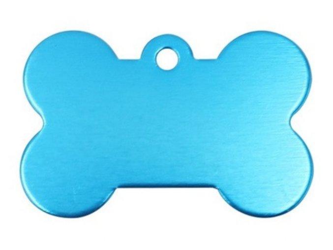 Známka pro psa bledě modrá kost
