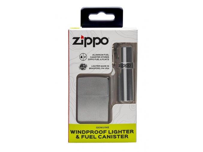 Zippo Street Chrome  dárková sada + zásobník na benzín