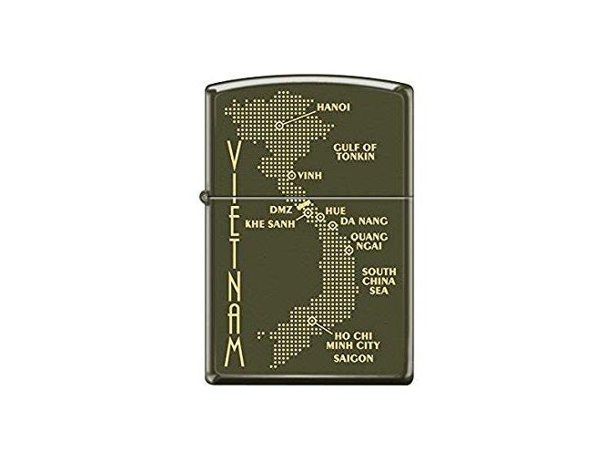 Zippo Vietnam Dot Map 0585
