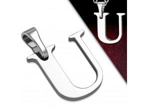 Přívěsek z chirurgické oceli - Písmeno U