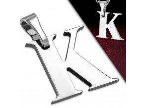 Přívěsek z chirurgické oceli - Písmeno K