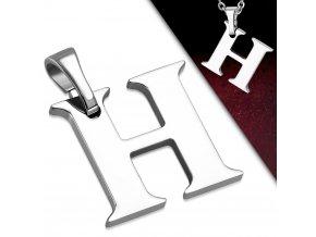 Přívěsek z chirurgické oceli - Písmeno H