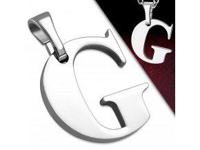 Přívěsek z chirurgické oceli - Písmeno G