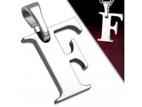 Přívěsek z chirurgické oceli - Písmeno F