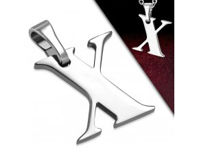 Přívěsek z chirurgické oceli - Písmeno X