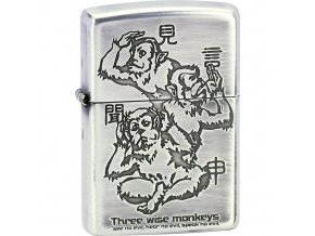 Zapalovač Zippo Three Wise Monkeys 28188