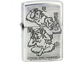 Zapalovač Zippo Three Wise Monkeys 28188
