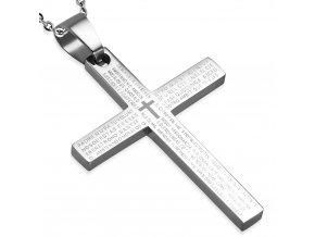 Přívěsek křížek s motlitbou