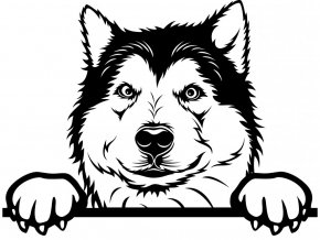 Samolepka pes Aljašský Malamut