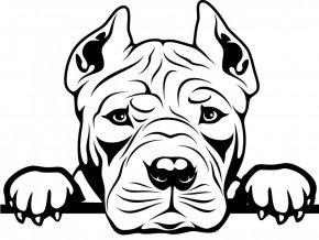 Samolepka pes - Americký pitbulteriér