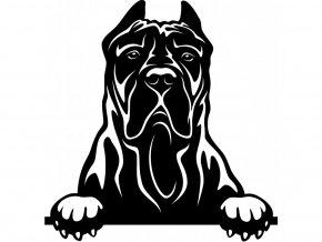 Samolepka pes Kanárská doga