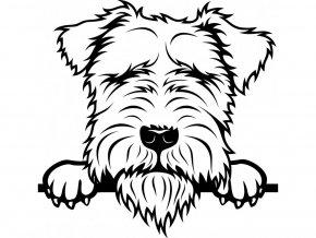 Samolepka pes Lakeland teriér