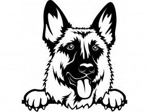 Samolepka pes Německý ovčák