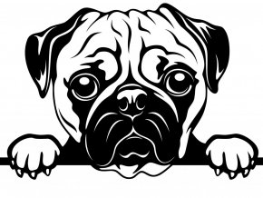 Samolepka pes - Mopsík