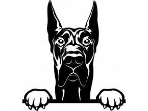 Samolepka pes Německá doga