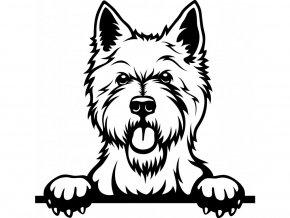 Samolepka pes - Westík