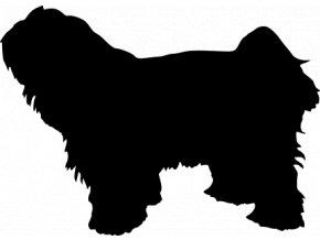 Samolepka pes - Tibetský teriér