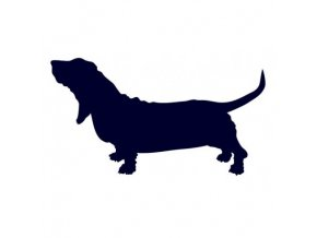 Samolepka pes - Baset