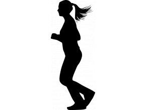 Samolepka - Běžkyně cíl