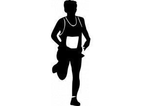 Samolepka - Běžec orientační běh