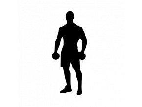 Samolepka - Fitness men cvičení