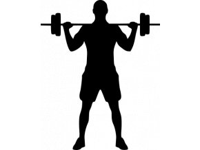 Samolepka - Fitness cvičení s činkami