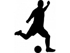 Samolepka - Fotbal - silueta fotbalista střední záloha i útok